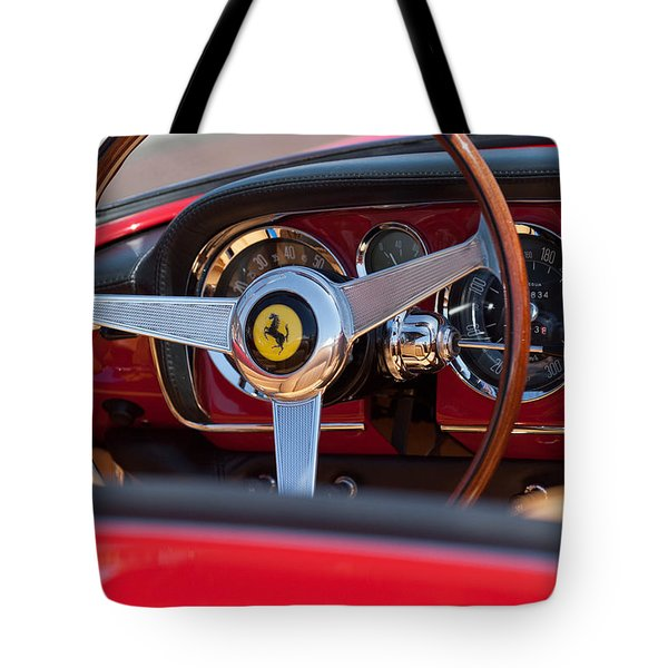 1960 Ferrari 250 Gt Cabriolet Pininfarina Series II Steering Wheel Emblem Tote Bag by Jill Reger