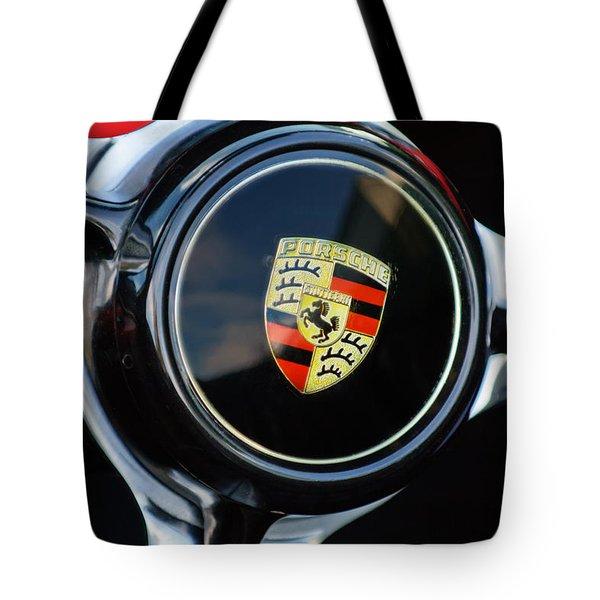 1960 Porsche 356 B Roadster Steering Wheel Emblem Tote Bag by Jill Reger
