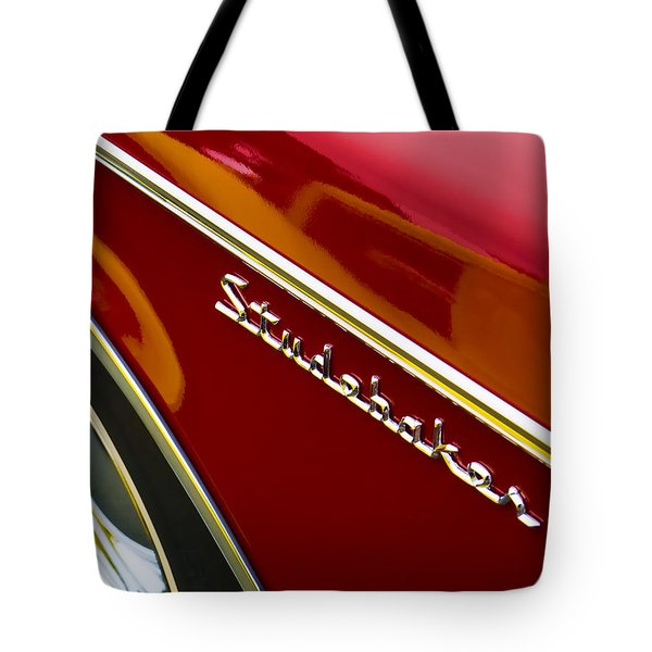1960 Studebaker Hawk Tote Bag by Carol Leigh