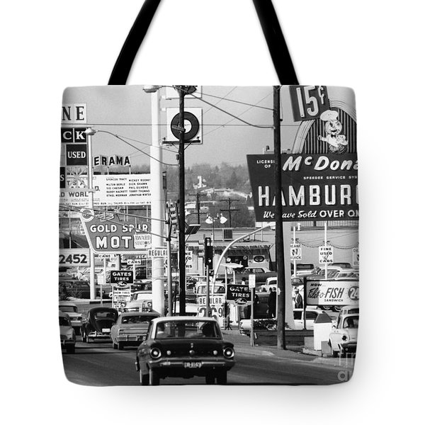 1960s Denver Scene Tote Bag by Myron Wood