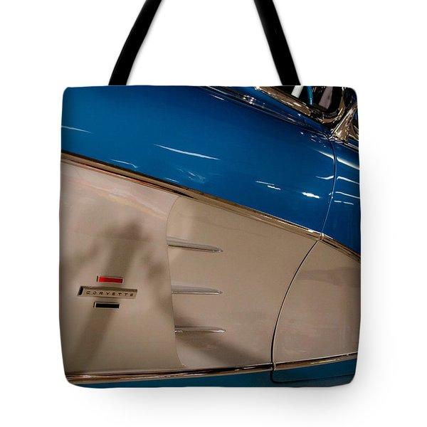 1961 Chevrolet Corvette V Tote Bag by David Patterson