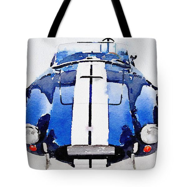 1962 Ac Cobra Shelby Watercolor Tote Bag by Naxart Studio