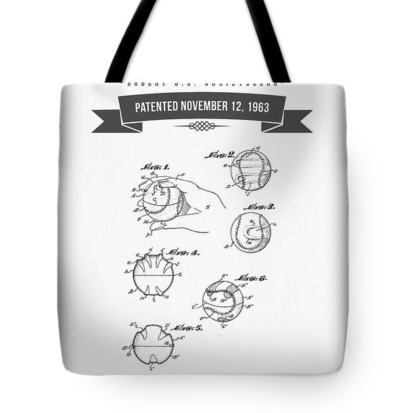 1963 Baseball Training Device Patent Drawing Tote Bag by Aged Pixel