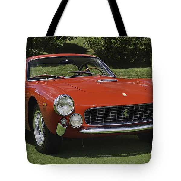 1963 Ferrari 250 Gt Lusso Tote Bag by Sebastian Musial