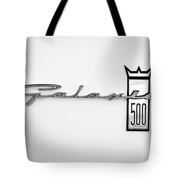 1963 Ford Galaxie 500 R-Code Factory Lightweight Emblem Tote Bag by Jill Reger
