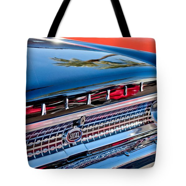 1963 Ford Galaxie 500XL Taillight Emblem Tote Bag by Jill Reger