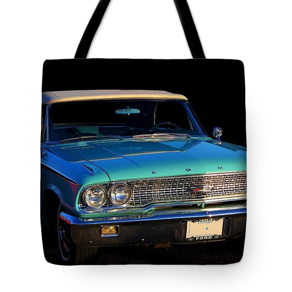 1963 Ford Galaxy Tote Bag by Davandra Cribbie