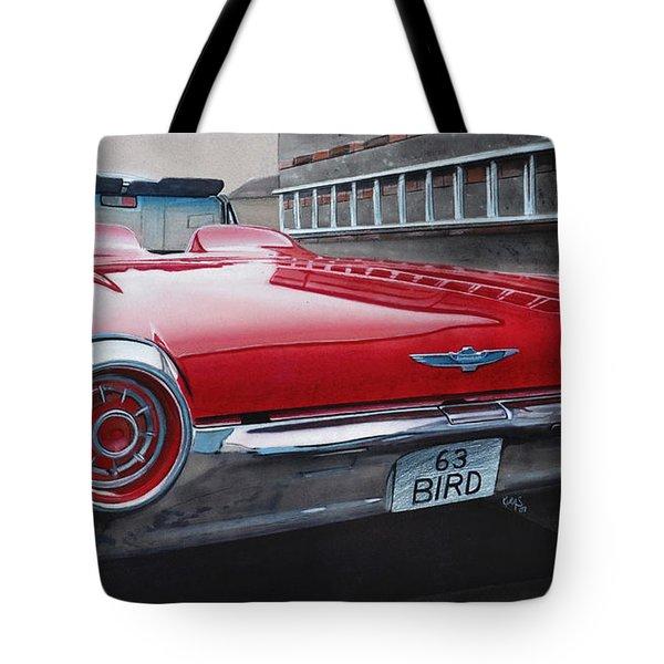 1963 Ford Thunderbird Tote Bag by Paul Kuras