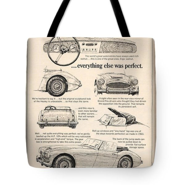 1964 Austin Healey Tote Bag by Nomad Art And  Design
