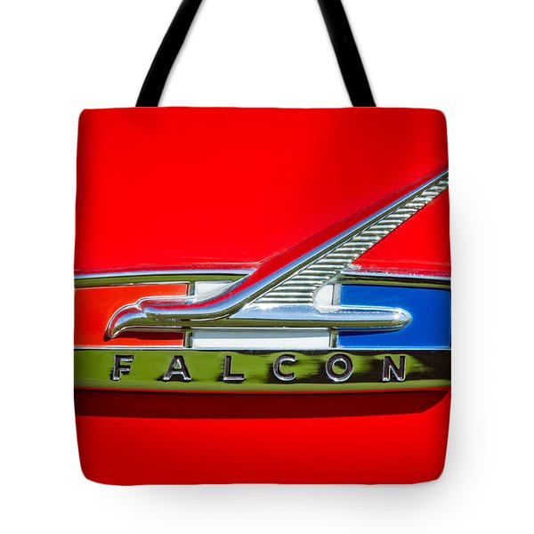 1964 Ford Falcon Emblem Tote Bag by Jill Reger