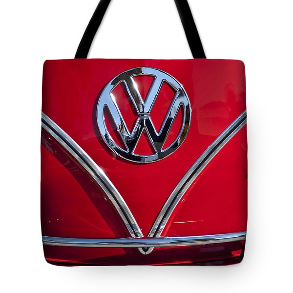 1964 Volkswagen VW Double Cab Emblem Tote Bag by Jill Reger
