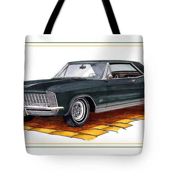 1965 Buick Riviera Custom Tote Bag by Jack Pumphrey