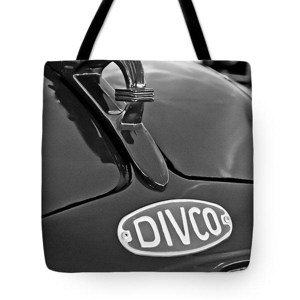 1965 Divco Milk Truck Hood Ornament 3 Tote Bag by Jill Reger