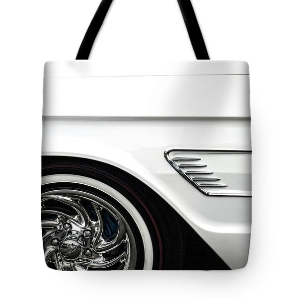 1965 Ford Thunderbird Tote Bag by Carol Leigh