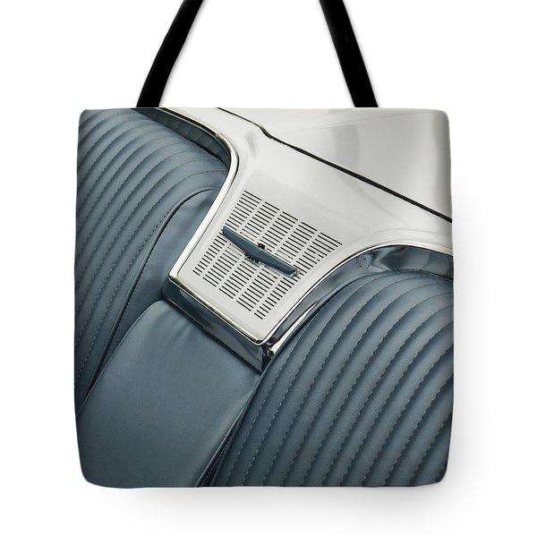 1965 Ford Thunderbird Convertible Tote Bag by Carol Leigh