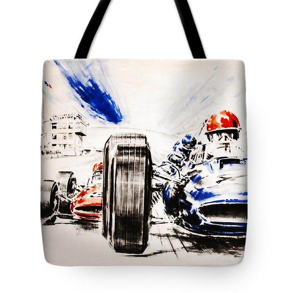 1965 Grand Prix De Paris Tote Bag by Nomad Art And  Design