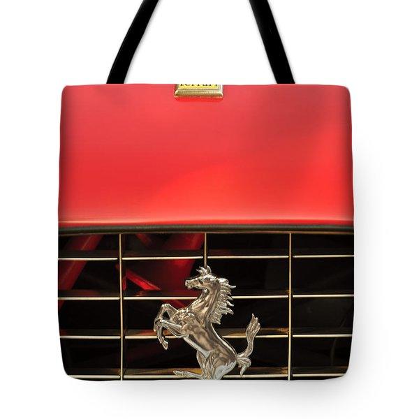 1966 Ferrari 330 GTC Coupe Hood Ornament Tote Bag by Jill Reger