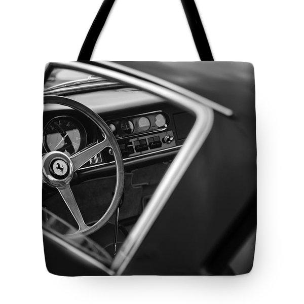 1967 Ferrari 275 GTB-4 Berlinetta Steering Wheel Tote Bag by Jill Reger