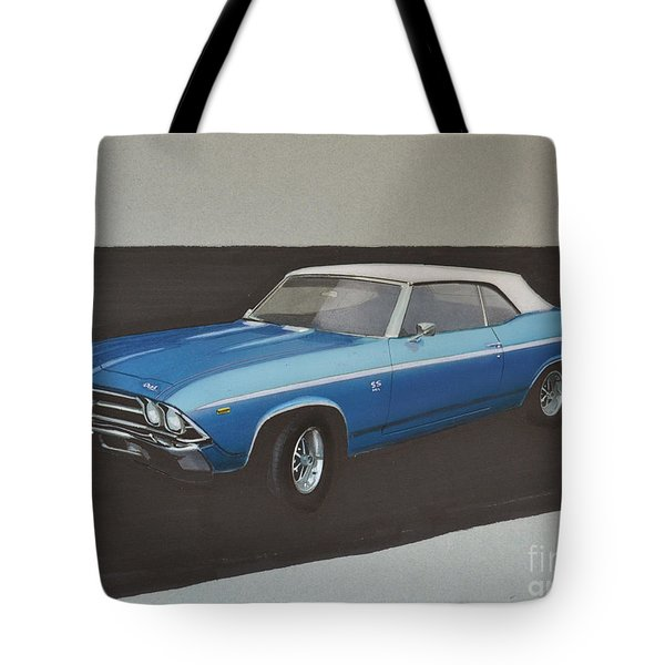 1969 Chevelle Tote Bag by Paul Kuras