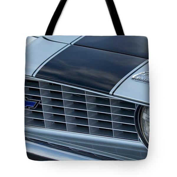 1969 Chevrolet Camaro Z 28 Grille Emblem Tote Bag by Jill Reger