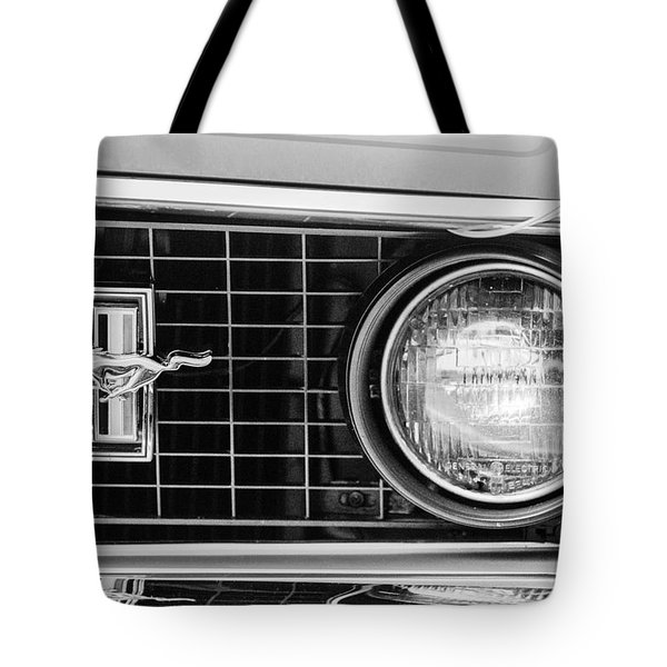 1969 Ford Mustang Mach 1 Grille Emblem Tote Bag by Jill Reger
