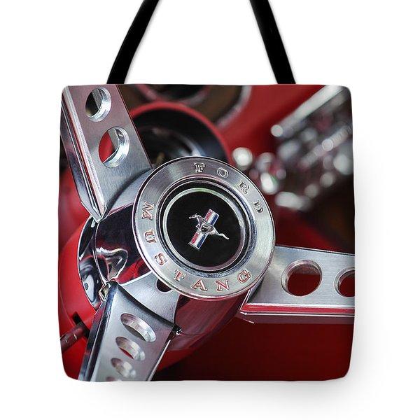 1969 Ford Mustang Mach 1 Steering Wheel Tote Bag by Jill Reger