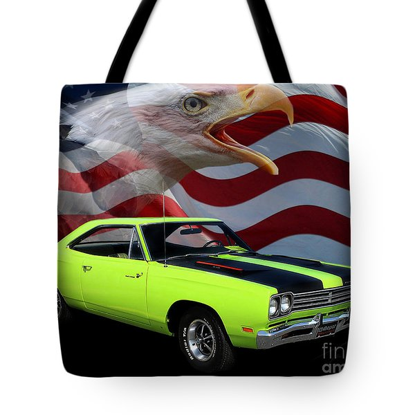 1969 Plymouth Road Runner Tribute Tote Bag by Peter Piatt