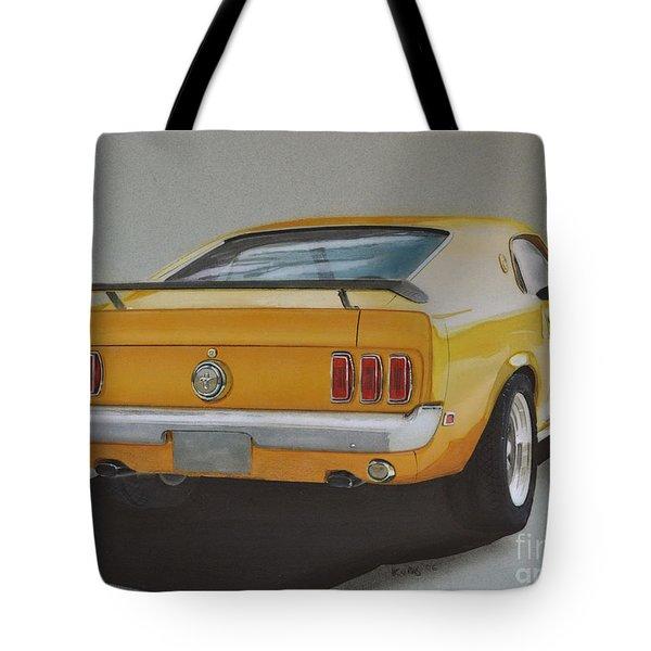 1970 Mustang Fastback Tote Bag by Paul Kuras