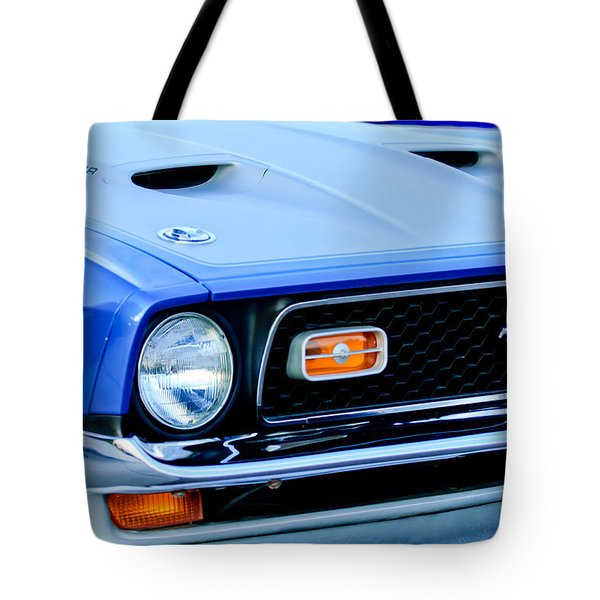 1971 Ford Mustang Boss 351 Cleveland Tote Bag by Jill Reger