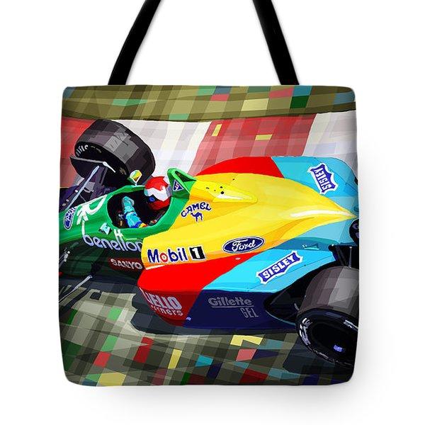 1989 Monaco Benettonb188 Ford Cosworth J Herbert Tote Bag by Yuriy Shevchuk