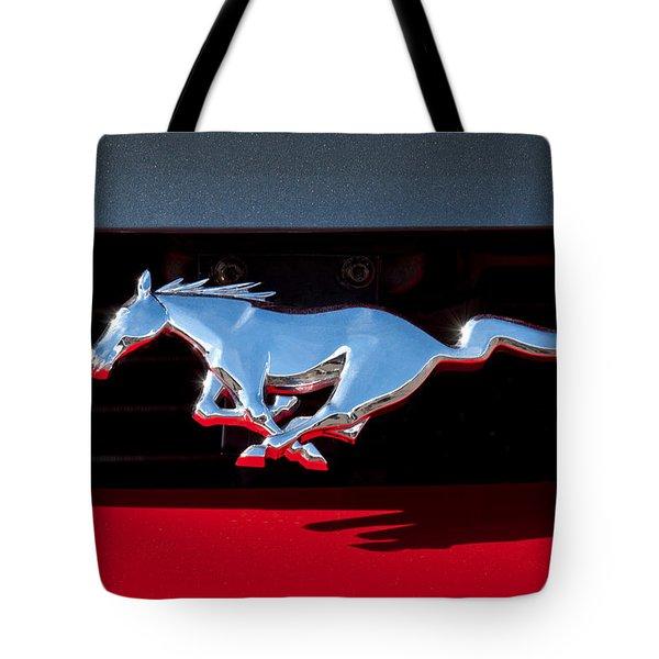 1994 Ford Mustang Corbra Custom Convertible Emblem Tote Bag by Jill Reger