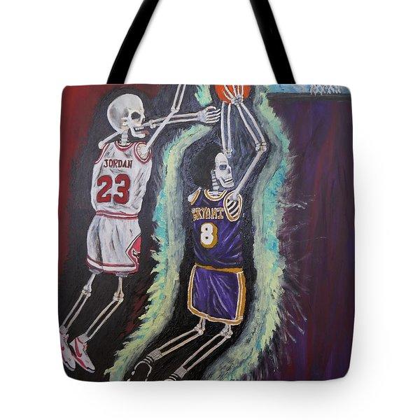 1997 Kobe vs Jordan Tote Bag by Visual  Renegade Art