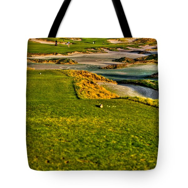 #18 at Chambers Bay Golf Course - Location of the 2015 U.S. Open Tournament Tote Bag by David Patterson