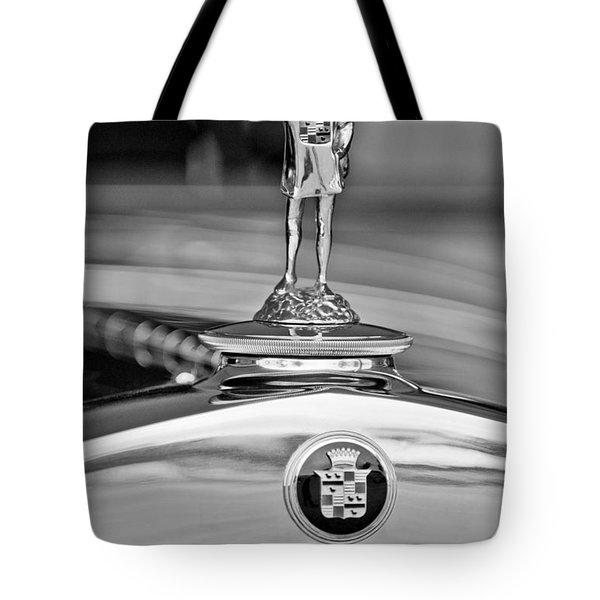 1929 Cadillac 1183 Dual Cowl Phaeton Hood Ornament Tote Bag by Jill Reger