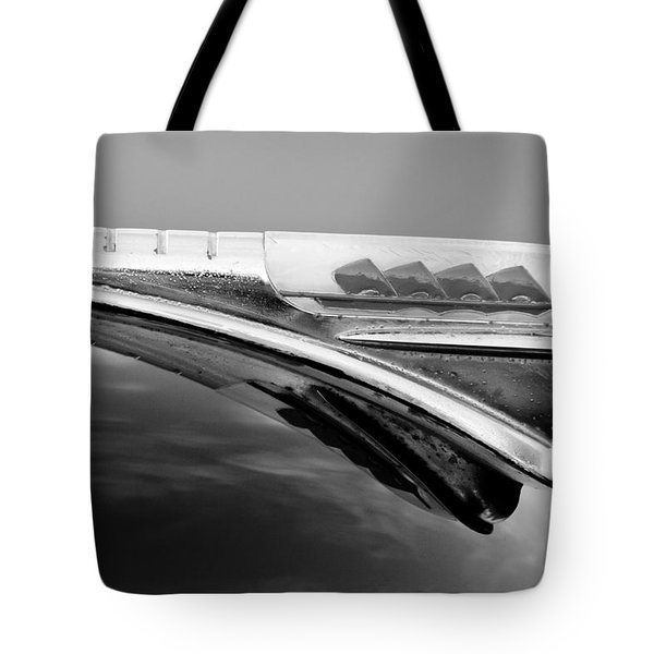 1947 Plymouth Hood Ornament Tote Bag by Jill Reger