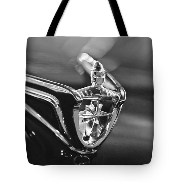1956 Lincoln Premiere Convertible Hood Ornament Tote Bag by Jill Reger