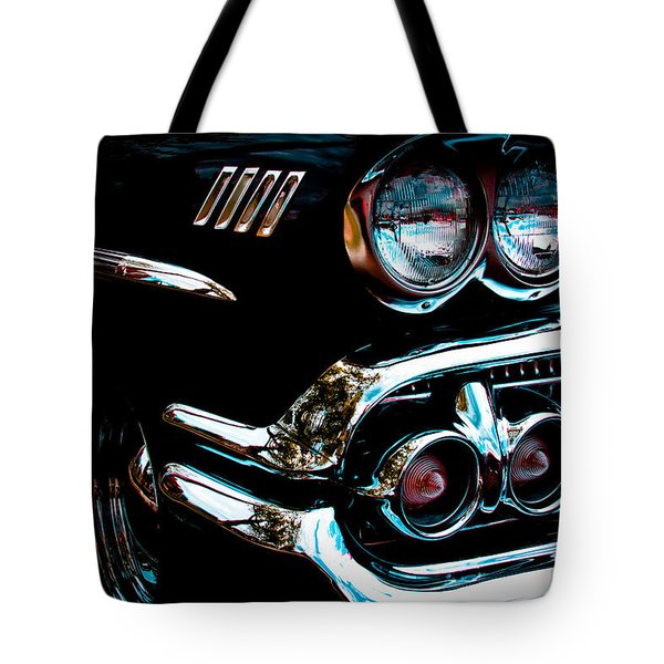 1958 Chevy Bel Air Tote Bag by David Patterson