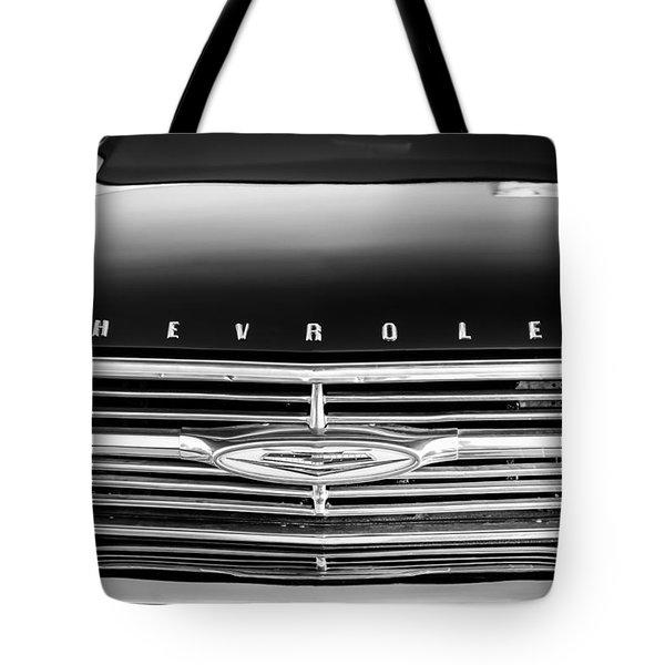 1960 Chevrolet El Camino Grille Emblem Tote Bag by Jill Reger