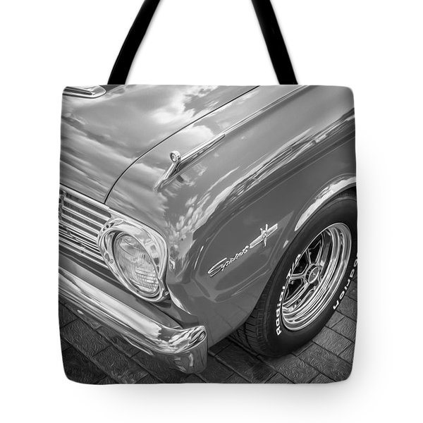 1963 Ford Falcon Sprint Convertible Bw  Tote Bag by Rich Franco