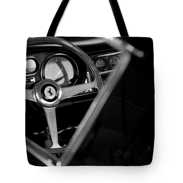 1967 Ferrari 275 GTB 4 Steering Wheel Emblem Tote Bag by Jill Reger