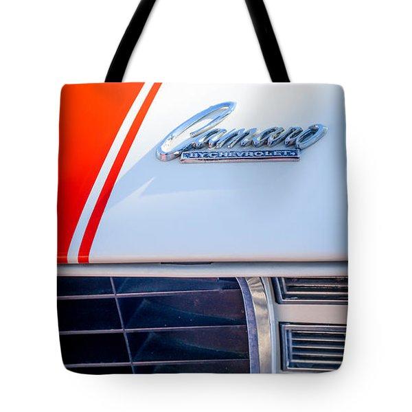 1969 Chevrolet Camaro RS-SS Indy Pace Car Replica Hood Emblem Tote Bag by Jill Reger