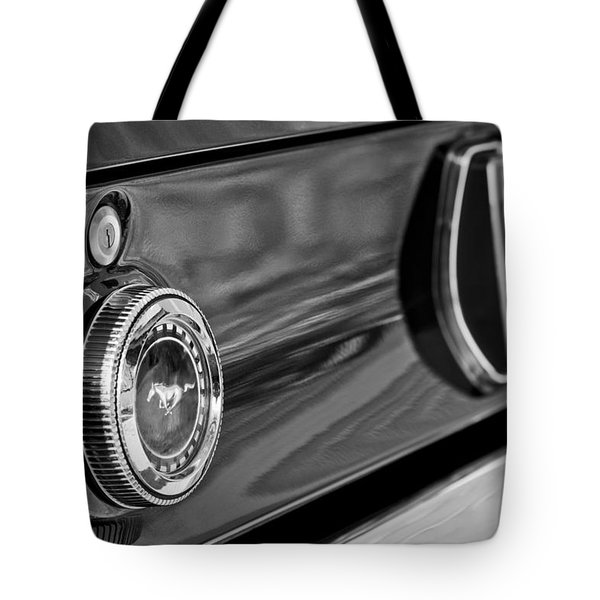 1969 Ford Mustang Taillights Tote Bag by Jill Reger