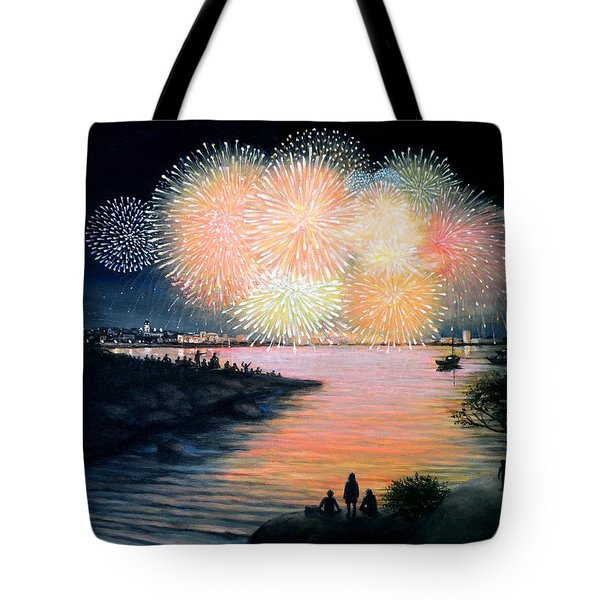4th of July Gloucester Harbor Tote Bag by Eileen Patten Oliver