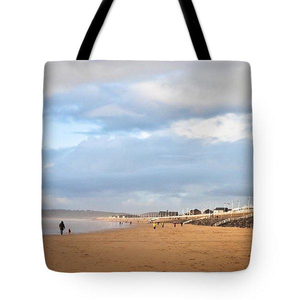 aberafan beach Tote Bag by Tom Gowanlock
