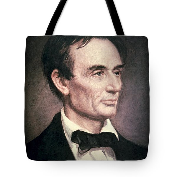 Abraham Lincoln Tote Bag by George Peter Alexander Healy