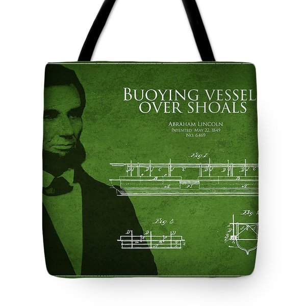Abraham Lincoln Patent from 1849 Tote Bag by Aged Pixel