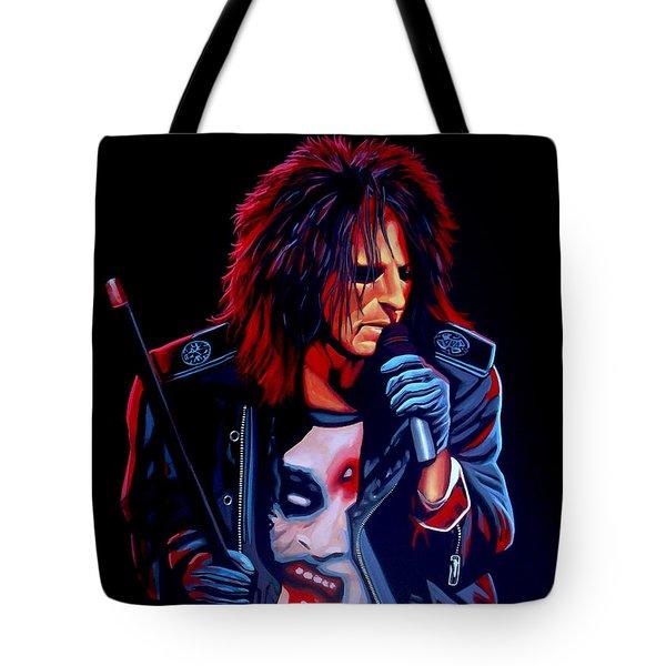 Alice Cooper  Tote Bag by Paul Meijering
