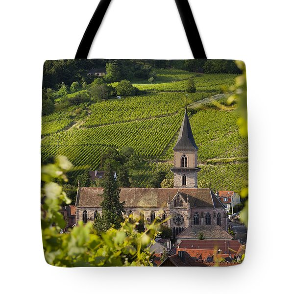 Alsace Church Tote Bag by Brian Jannsen