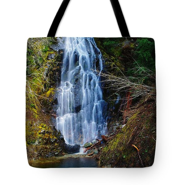 An Angel In The Falls Tote Bag by Jeff Swan