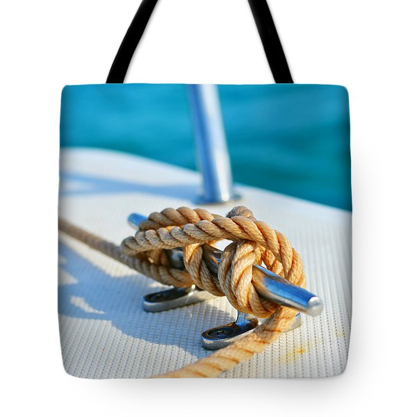 Anchor Line Tote Bag by Laura  Fasulo
